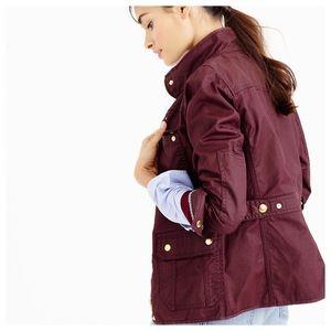 J.Crew Burgundy Downtown Field Jacket Size S